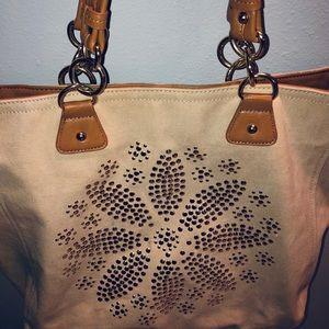"Olivia + Joy large tote bag 14"" x 20.5"" W"